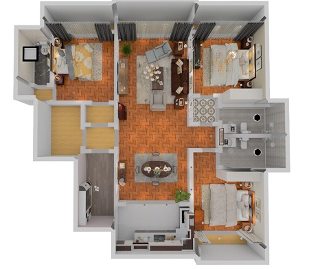 Harbor House青島180㎡三室兩廳,每平米都搭出了復古高級感!