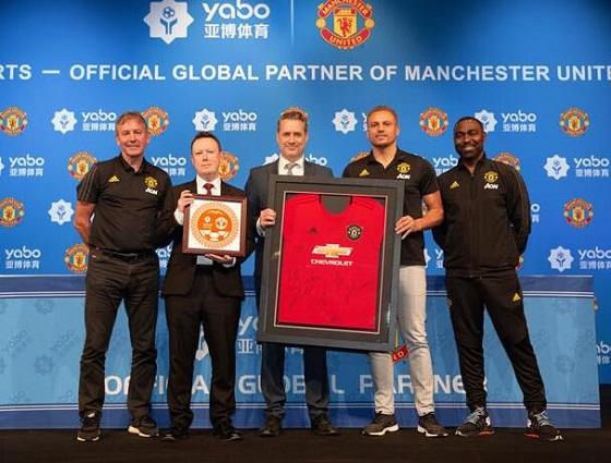 曼联全球赞助商亚博体育祝贺俱乐部取得欧冠5球大胜