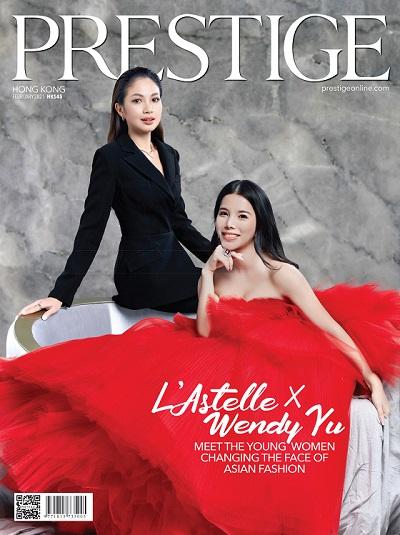 余晚晚(Wendy Yu)与高定礼服品牌LAstelle创意总监兼设计师Jane Kitakkaranon登上亚洲知名杂志《PRESTIGE》2月刊封面.jpg